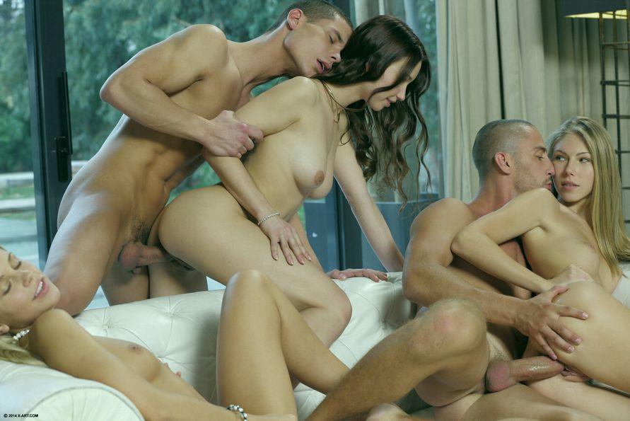 русская анжелика групповое порно