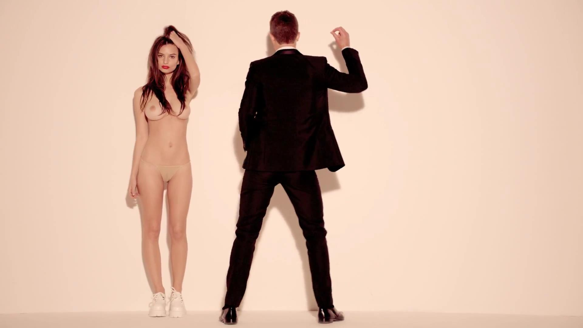 Blurred lines unrated music video with emily ratajkowski